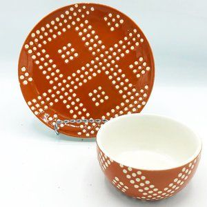 Threshold Target Burnt Sienna Small Bowl and Plate